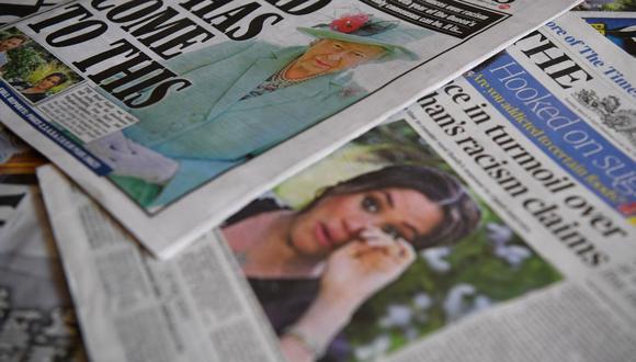 Tras la explosiva declaración de Meghan Markle, la prensa británica busca al miembro racista de la familia real. (Foto: Ben STANSALL / AFP).