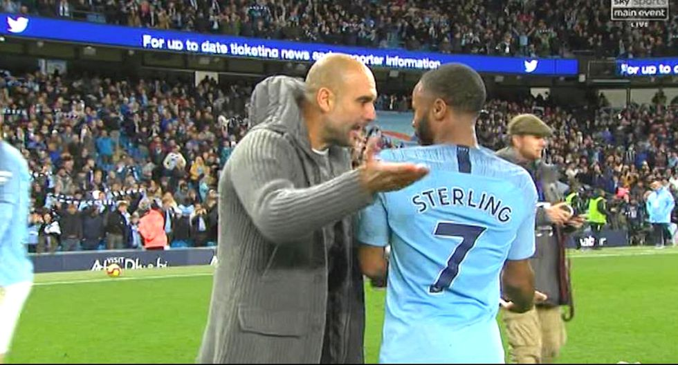 Pep Guardiola pierde la paciencia con Raheem Sterling