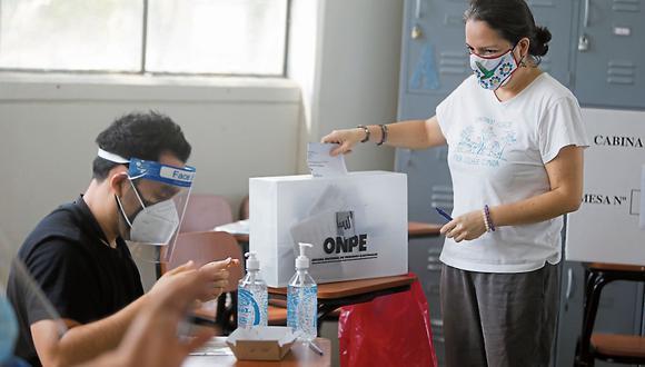 La jornada electoral en Perú, del 6 de junio, se desarrollará en medio de la pandemia a causa del COVID-19, tal como ocurrió la primera vuelta electoral de abril pasado. (Foto: Mario Zapata Nieto/ GEC)