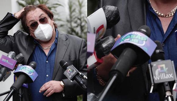 'El Wasap de JB' se hizo presente en la conferencia de prensa de Richard Swing. (Foto: Ángela Ponce/GEC)