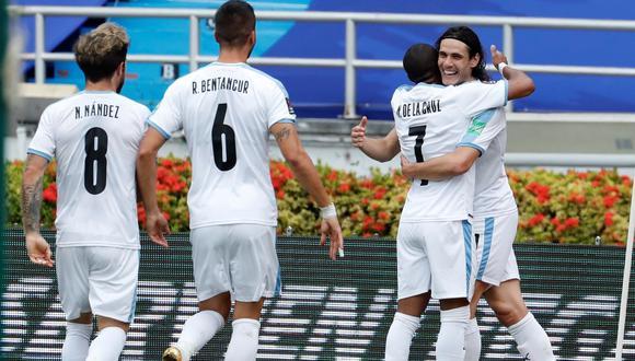 Edinson Cavani marcó el 1-0 de Uruguay ante Colombia | Foto: EFE