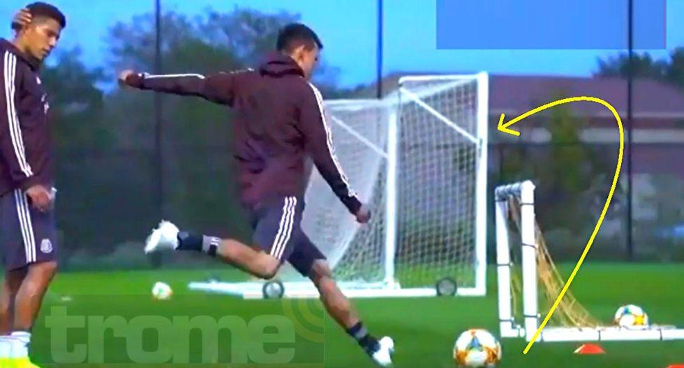 Hirving Lozano sorprende con este gol en práctica de México