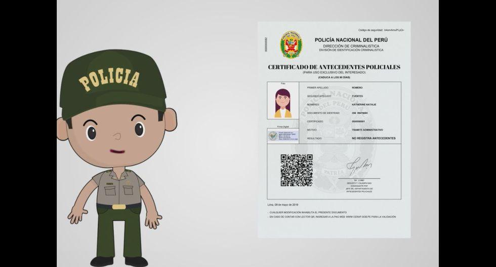 Certificado de antecedentes policiales