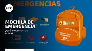 Sismo en Mala: cómo preparar una mochila de emergencia