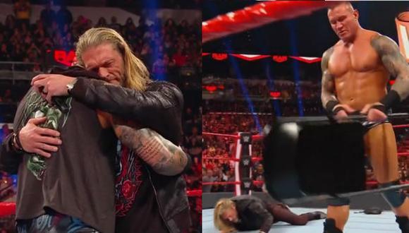 Otra vil traición de Randy Orton. (Captura TV)