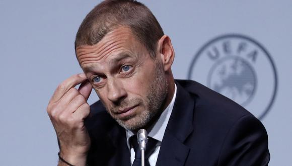 Aleksander Ceferin considero 'incompetentes' a los clubes impulsores de la Superliga. (Foto: Reuters)