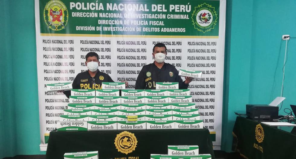 Pucusana: Bus estaba lleno de cigarrillos de contrabando