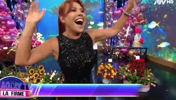 Magaly Medina se presentó en su programa en el día de su cumpleaños número 58. (Foto: Captura ATV)