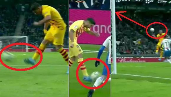 Golazo de Arturo Vidal tras asombroso centro a tres dedos de Suárez en el Barza-Espanyol | Video