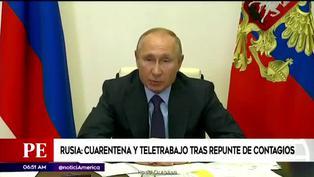 Rusia: retorna a la cuarentena por rebrote de COVID-19