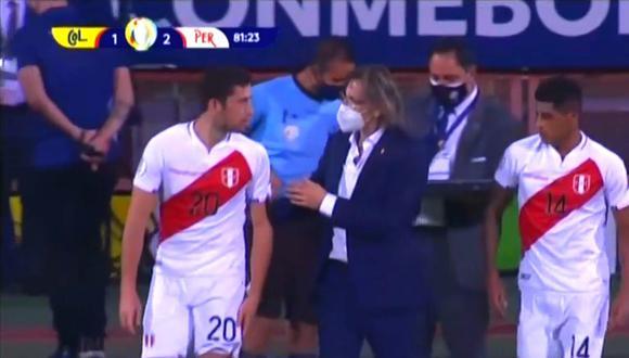 Santiago Ormeño y su debut oficial con la selección peruana (Captura América TV )