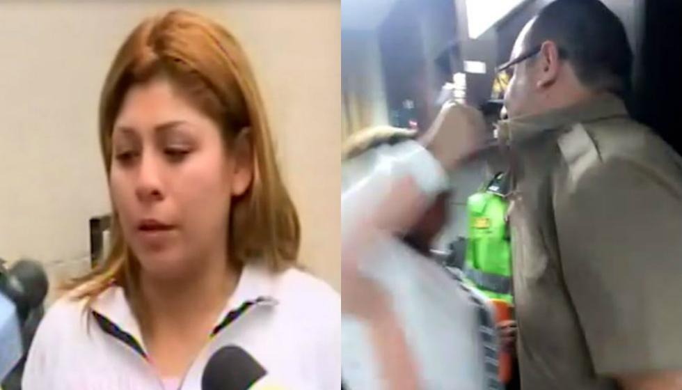Mujer que insultó, escupió y cacheteó a comisario se muestra arrepentida tras el escándalo. Foto: Captura de Canal N