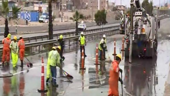 Continúan los trabajos de limpieza tras aniego. (Foto: Captura/Canal N)