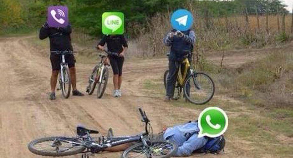 WhatsApp: Con memes y gifs de Facebook y Twitter se burlan de su caída