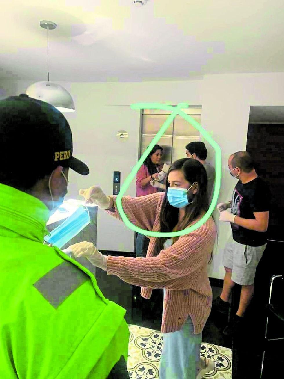 Departamento de Katia Palma fue intervenido por serenos y policías. (Trome.pe)