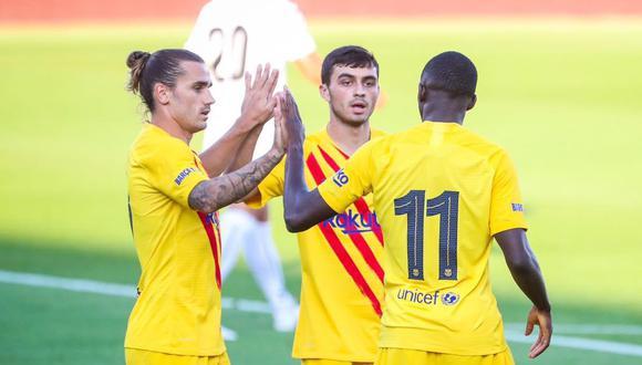 Gol de Ousmane Dembélé en Barcelona vs Nástic