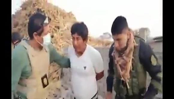 Lambayeque: PNP interviene a sujeto implicado en doble homicidio. (Foto: Captura de Video)