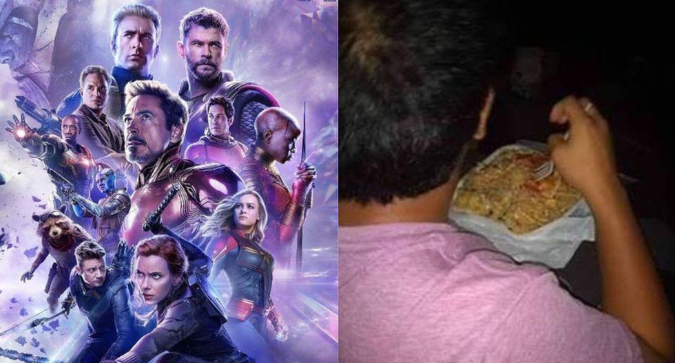 'Avengers: Endgame': Fanático llevó su rico arroz chaufa al estreno de medianoche