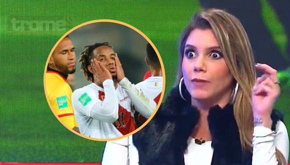Alexandra Hörler disparó con todo tras empate con Uruguay (captura)