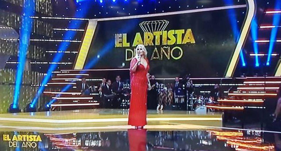 """Así inició """"El artista de año"""", el programa que conduce Gisela Valcárcel por América Televisión. (Foto: captura de video)"""