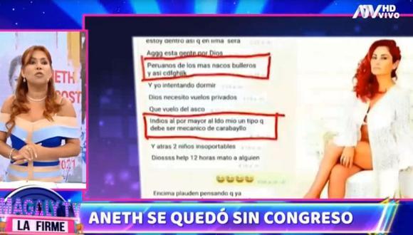 Magaly Medina habló sobre Aneth Acosta. (Magaly Tv. La firme)