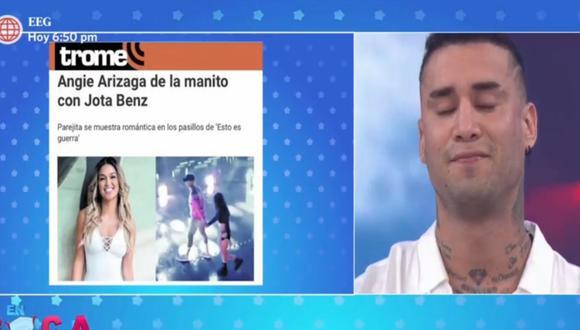 Jota Benz se decidió a hablar sobre la agarradita de mano a Angie Arizaga. (Captura: En Boca de Todos/América)