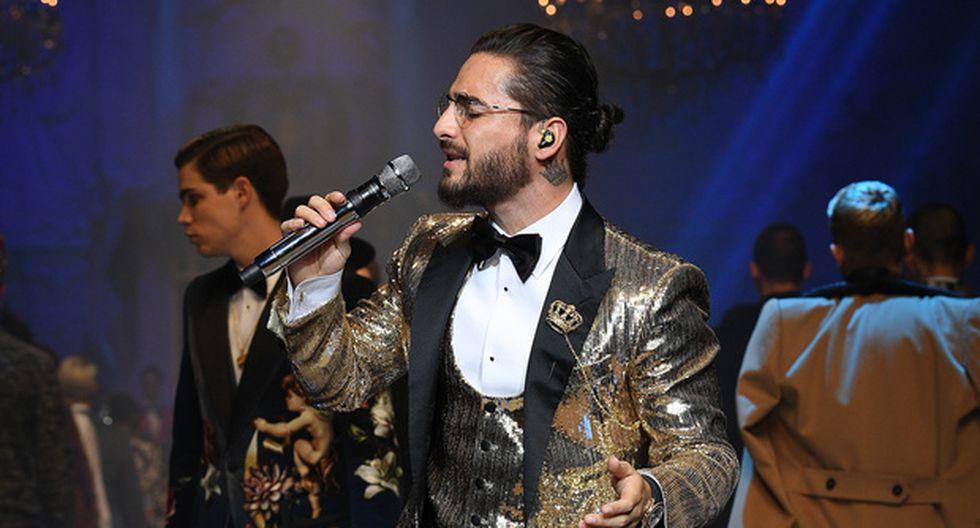 Maluma desfiló y cerró la pasarela de Dolce & Gabbana.