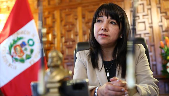 Mirtha Vásquez, presidenta del Congreso de la República.
