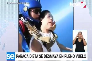 Viral: joven se desmaya al practicar paracaidismo