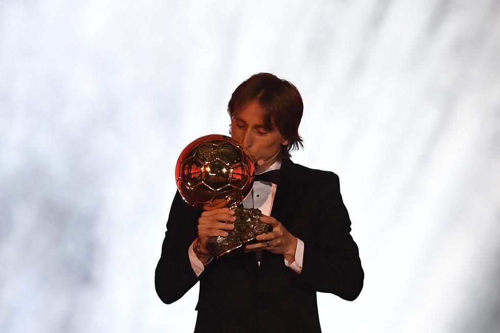Luka Modric levantó el Balón del Oro 2018.