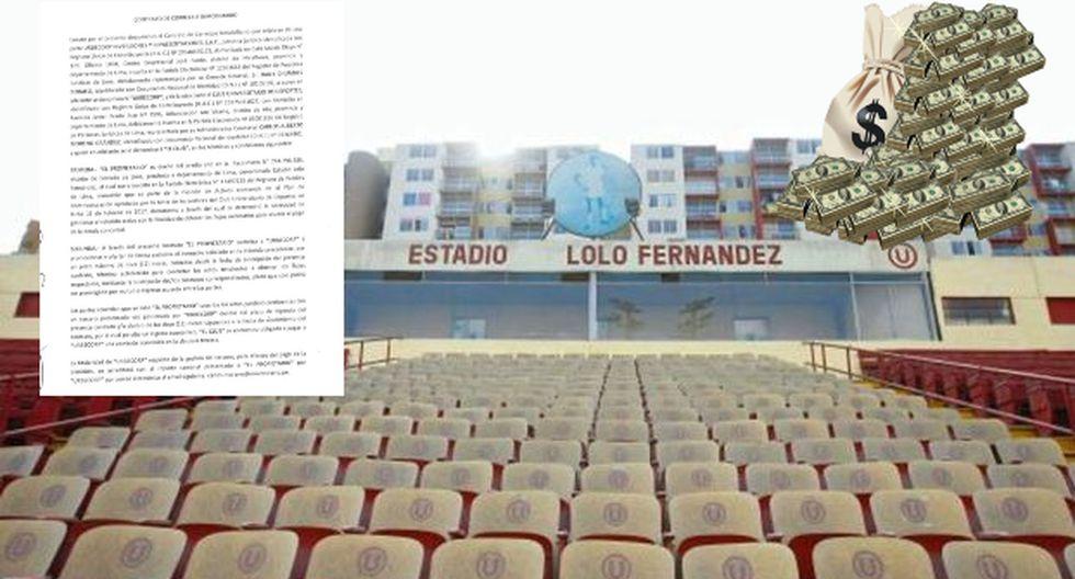 Universitario: Exministro reveló contrato de Gremco para vender estadio Lolo Fernández a 35 millones