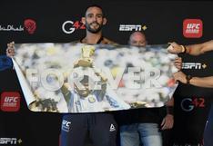 UFC: 'El Rasta' Ponzinibbio rindió homenaje a Maradona antes de su pelea contra el chino Li Jingliang