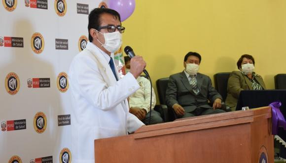 Puno: El gobierno regional de Puno nombró al director del hospital Carlos Monge Medrano de Juliaca, Fredy Velásquez Angles, como nuevo jefe del Comando Regional Regional COVID-19. (Foto Diresa)