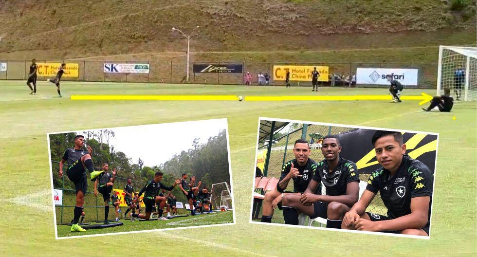 Alexander Lecaros la rompe en pretempoerada de Botafogo