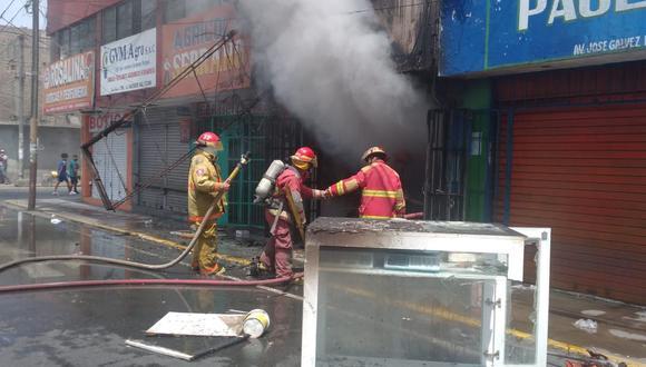 Chimbote: Bomberos evitaron que incendio pase a mayores en su día conmemorativo (Foto: Municipalidad del Santa)