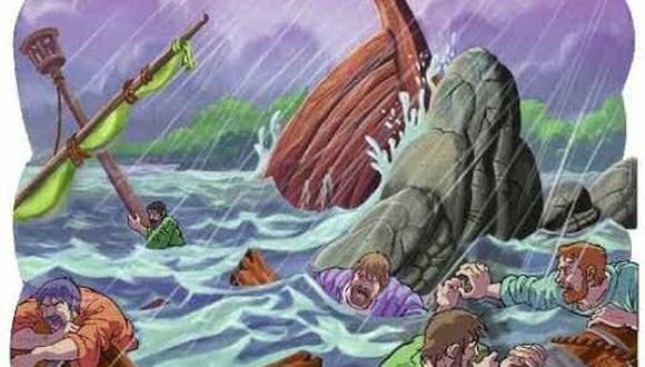 Un naufragio se convierte en el momento para saber cómo actuar en la vida.
