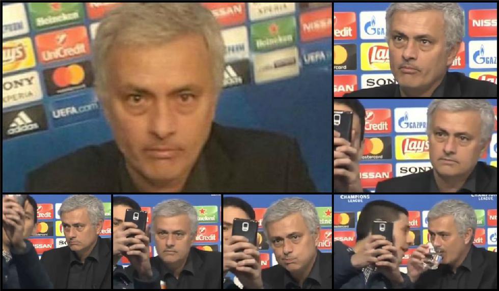 YouTube viral: José Mourinho atónito y desencajado por pedido de selfie conferencia | FOTOS