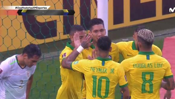 Gol de Roberto Firmino en Brasil vs Bolivia por Eliminatorias Qatar 2022