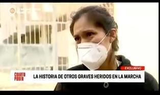 """Hermana de joven herido en protestas contra Manuel Merino se quiebra: """"Le han generado sordera mixta, tiene pesadillas, llora, no duerme"""""""