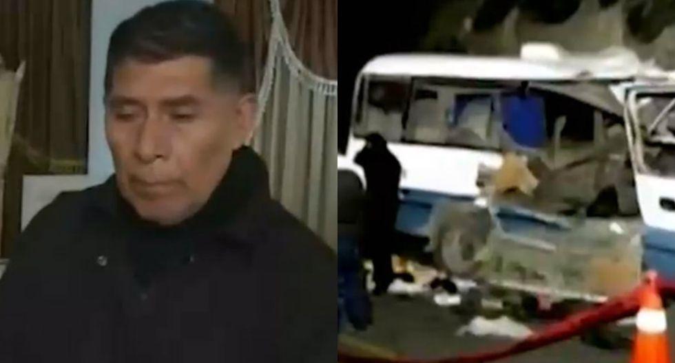 La tragedia de Don Gastón, quien perdió su esposa y tres hijos en el aparatoso accidente en Canta. Foto: Captura de ATV Noticias