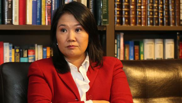 """""""Mi posición es estar a favor de la unión patrimonial [de parejas del mismo sexo], de la posibilidad de adopción yo no estoy de acuerdo"""", señaló Keiko Fujimori. (Foto: GEC)"""