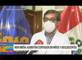 INSN Breña advierte que contagios en niños y adolescentes van en aumento