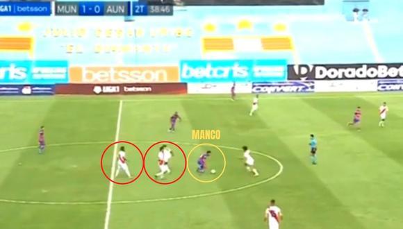 Reimond Manco intratable ante Deportivo Municipal por Liga 1. (Captura)