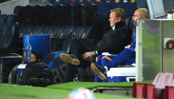 Ronald Koeman fue crítico pese a la victoria de Barcelona (AFP)