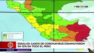 Essalud anuncia disminución de casos de COVID-19 en el Perú