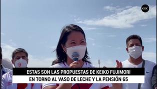 Estas son las propuestas de Keiko Fujimori en torno al programa Pensión 65 y al Vaso de Leche