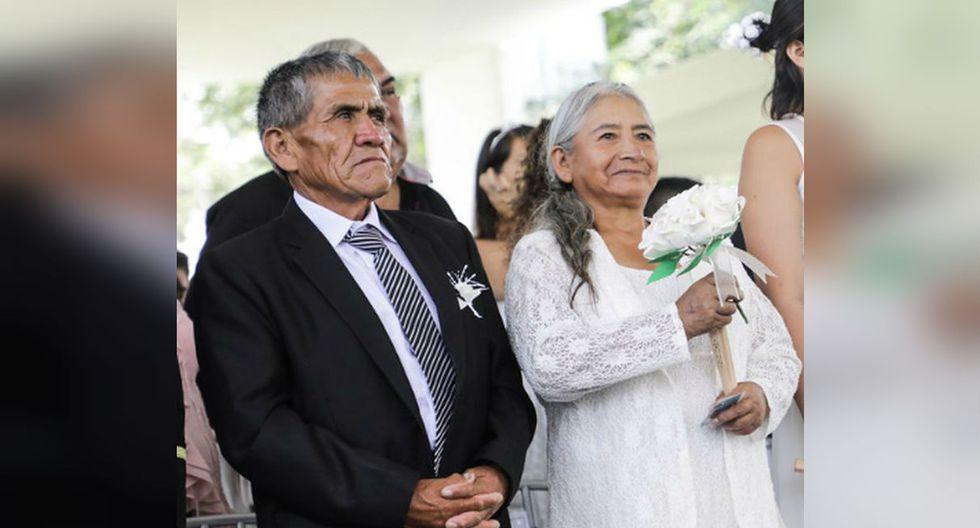 Abuelitos de 25 nietos se casaron en San Valentín tras medio siglo de convivencia   Difusión   TROME