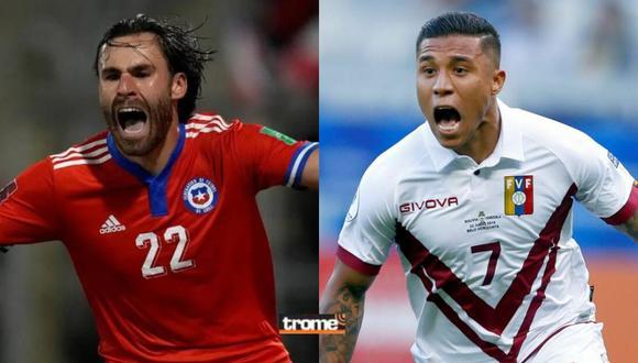 Conoce dónde ver el Chile vs Venezuela EN VIVO por la jornada 12 de las Eliminatorias Qatar 2022. Fotos: EFE