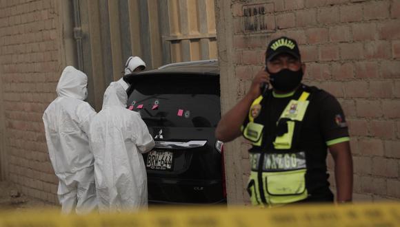 Camioneta de empresario fue baleada por todos lados. Recibió más de 30 balazos. | Foto: Leandro Britto