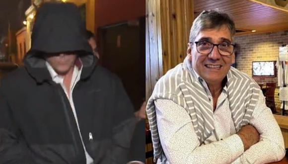 Encapuchado y sin decir nada, así llegó Guillermo Dávila a su concierto. (Captura Magaly TV/ Instagram)